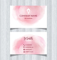 Watercolor design business card vector image