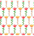 watercolor floral seamless pattern colorful vector image vector image
