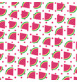 watermelon tropical and exotic fruit pattern vector image vector image