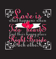 wedding quotes and slogan good for tee love is vector image
