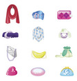 woman accessories set collection of accessories vector image vector image