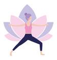 woman and yoga vector image vector image