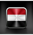 Yemen icon flag national travel icon country vector image vector image