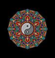 yin yang mandala color design vector image vector image