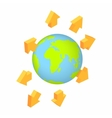 Global communication isometric 3d icon vector image