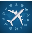 Airport World Travel Concept vector image vector image