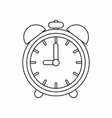 Alarm clock icon outline style vector image vector image