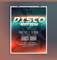 amazing disco nation music event flyer template vector image vector image