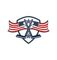 america hockey logo design template vector image