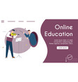 banner online education vector image