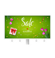 billboard with sale offer of the weekend spring vector image vector image