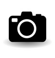 black and white camera icon flat photo camera vector image