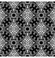 black and white isolated greek seamless pattern vector image vector image