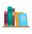 books on shelf bookstore or library symbol vector image vector image