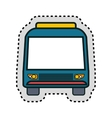 bus vehicle public isolated icon vector image