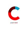 c light font template design vector image