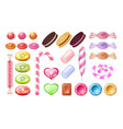 candies and lollipops sweet jelly chocolate vector image vector image
