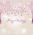 christmas snowfall background with handwritten vector image vector image