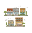 Collection Of Buildings vector image