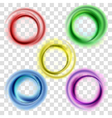 Colorful circles set vector image vector image