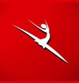 dancer icon vector image vector image