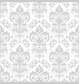 decorative damask pattern vintage ornament vector image vector image