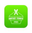 designer tool icon green vector image vector image