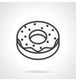 Donut simple line icon vector image vector image