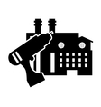 drill and factory icon vector image