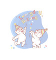 everyday holiday card with two cute bears vector image vector image