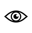 eye icon pictograph of view optical eyesight vector image