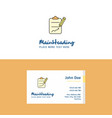 flat clipboard logo and visiting card template vector image vector image