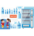 flat pure water concept vector image