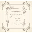 Floral Corners Borders and Frame vector image