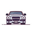 front view of luxury car vector image vector image