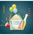 Fun Party Celebrate Birthday Icon Symbol 3d vector image vector image