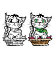 funny cat mascot cartoon vector image