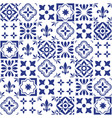 geometric tile design portuguese or spnish vector image vector image