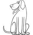 great dane dog cartoon for coloring vector image vector image
