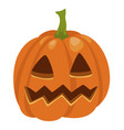 halloween pumpkin icon traditional orange cute vector image