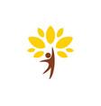 Happy man tree organic logo