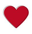 heart healthy love feeling symbol icon vector image