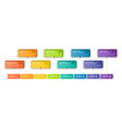 infographic timeline with 8 options vector image vector image