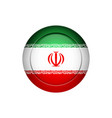 iranian flag on the round button vector image