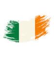 irish flag grunge brush background vector image vector image