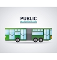 Isolated bus vehicle design vector image vector image