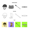 isolated object of equipment and riding sign vector image vector image