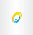 letter o man icon design vector image vector image