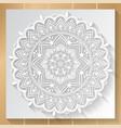mandala white background vector image