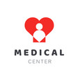 medical diagnostic center or clinic logo design vector image